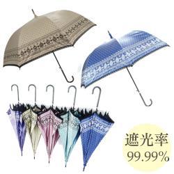 高遮光率 雙面蕾絲遮光宮廷傘/晴雨傘-隨機款