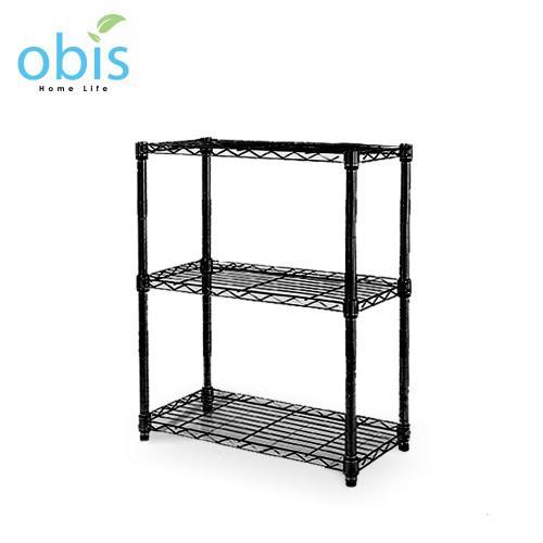 【obis】置物架 收納架 家用經典款三層架(60*30*60CM)[黑/白]