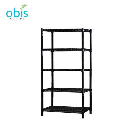 【obis】置物架 收納架 家用經典款五層架60*30*150 [黑/白]