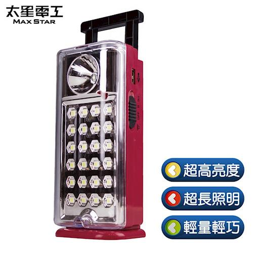 【太星電工】夜巡俠彩色輕巧LED充電式照明燈(紅)/