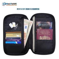 防RFID/NFC側錄多功能護照包