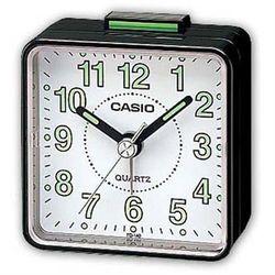 【CASIO】夜間螢光便利鬧鐘-黑殼白面 (TQ-140-1B)