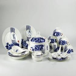 青花骨瓷餐具組