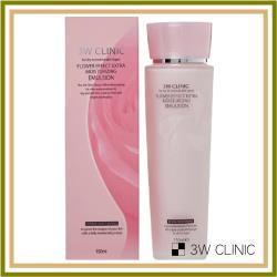 韓國3W CLINIC 極緻透光嫩白保濕乳液 150ml x 1入(嫩白 保濕 乳液)