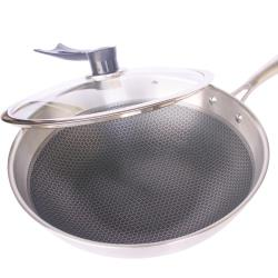 304不鏽鋼氣懸浮精鋼鍋蜂巢鍋不沾鍋