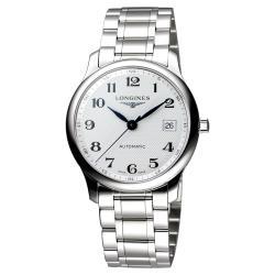 LONGINES Master 巨擘系列機械腕錶 銀白 36mm L25184786