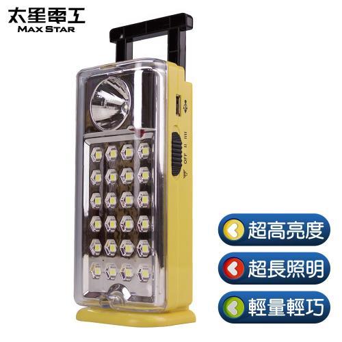 【太星電工】夜巡俠彩色輕巧LED充電式照明燈(三色任選)/