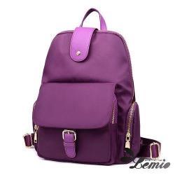 【Lemio】韓版純色牛津布防潑水後背包