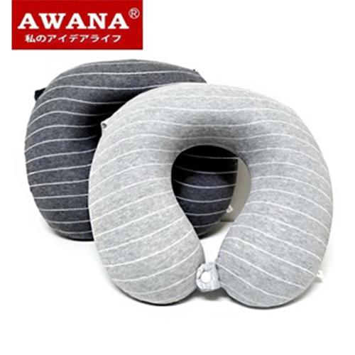 【AWANA】條紋紓壓記憶棉頸枕