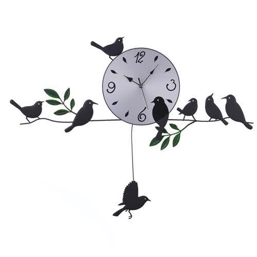 WSH 造型掛鐘(田園小鳥)