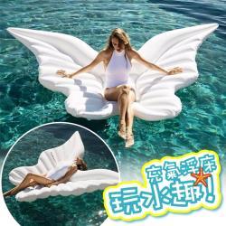 2017年新款加厚 蝴蝶浮排 天使之翼 蝴蝶翅膀 浮床 天使翅膀充氣浮床 水上漂浮氣墊 游泳圈 造型泳圈