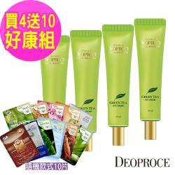 韓國Deoproce New加大容量 靚膚彈力保濕眼霜 40ml x4入(贈純棉保濕修護面膜10片)
