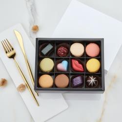 JOYCE巧克力工房-混搭風綜合手工巧克力12顆入禮盒