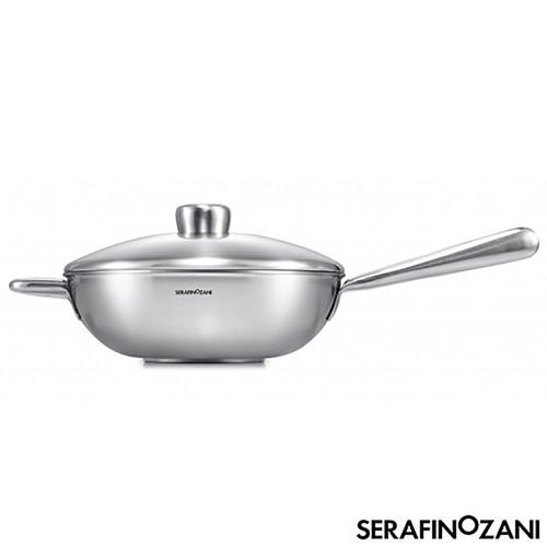 SERAFINO ZANI尚尼恆温中式不鏽鋼炒鍋32cm