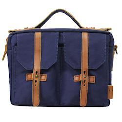 吉尼佛 JENOVA 66002 復古型攝影背包(小)_寶藍色