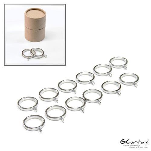 【GCurtain】金屬窗簾環 #RZG002K 20入/組 (靜音環、消音環、內圈Φ30mm)