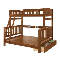 Boden-喬德全實木抽屜雙層床架