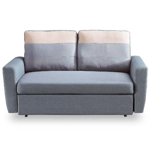 【時尚屋】莫妮卡布沙發床雙人座灰色MT7-340-2免組裝/免運費/沙發