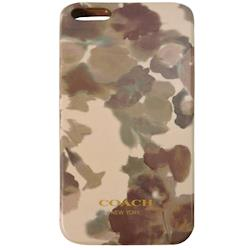 COACH  塗鴉 iPhone 5 手機保護殼(褐灰)