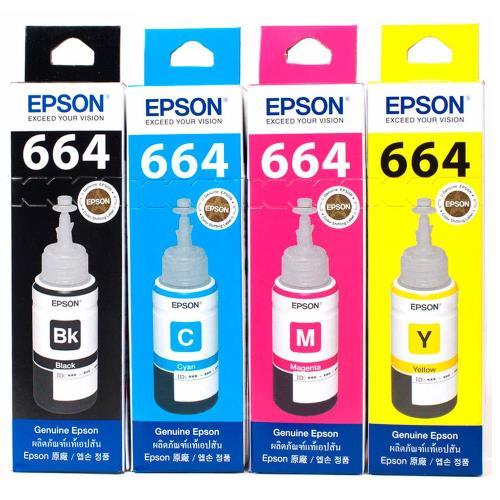 EPSONT664系列原廠墨水匣超值組合包(1黑3彩)