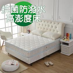 Ally愛麗-經典藍-高澎度抗菌防潑水獨立筒床墊-單人3.5尺-服貼腰部好睡眠