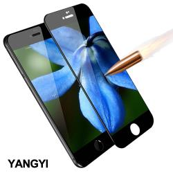 YANGYI 揚邑-Apple iPhone 6/6s 4.7吋 滿版軟邊鋼化玻璃膜3D曲面防爆抗刮保護貼-黑