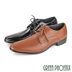 GREEN PHOENIX 經典漸層渲染線條綁帶平底皮鞋(男鞋)T59-10182