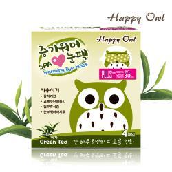 Happy Owl 快樂貓頭鷹SPA蒸氣眼罩 -綠茶(4入/盒)
