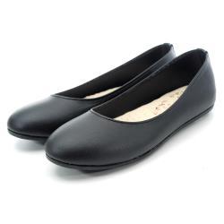 【 cher美鞋】MIT簡約素色全手工縫線平底娃娃芭蕾美鞋-OL最愛-黑色-0691130800-89