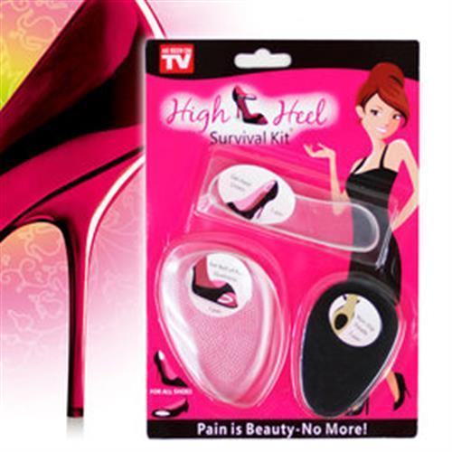 【OUTBOUND】美麗矽膠鞋墊三件組(腳後跟貼,前掌貼,防滑貼)/