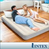 INTEX 新型氣柱-雙人加大植絨充氣床墊-寬152cm(64103)