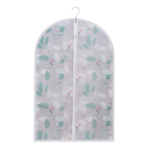 【收納職人】清新花漾霧透可水洗衣物防塵袋收納袋 (90cm)草葉一入