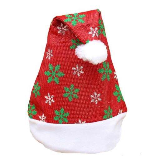 【摩達客】耶誕派對-白綠雪花聖誕帽