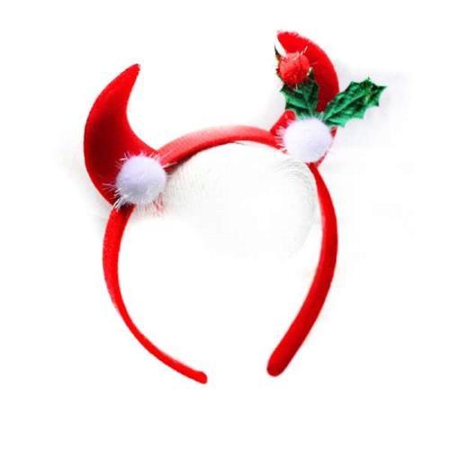 摩達客 聖誕派對小惡魔紅牛角髮箍