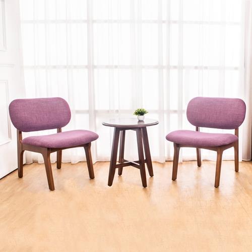Boden-伊德實木餐椅+小茶几組合(一桌二椅)