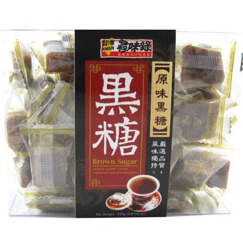 【台灣尋味錄】原味黑糖盒220G-6盒/組/