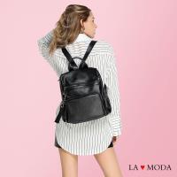 La Moda 百搭單品2WAY大容量防盜設計肩背後背包