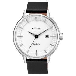 CITIZEN星辰光動能競技場手錶-白x黑40mmBM7370-11A