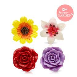 Beauty Garden 美麗花園清新護唇膏_3入 (波斯菊.百合花.紅玫瑰.紫玫瑰)
