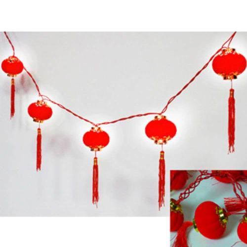 【摩達客】農曆春節特選◎10燈圓宮燈/小燈籠串燈