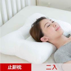 【凱蕾絲帝】台灣製造~平凹造形可水洗物理健康止鼾枕-二入