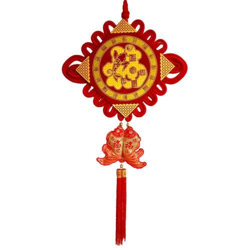 【農曆春節】農曆春節新年元宵【大福氣結板雙魚串吊飾】掛飾