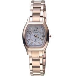 CITIZEN星辰 xC系列綻放時刻鈦金屬限量腕錶 ES9356-55W
