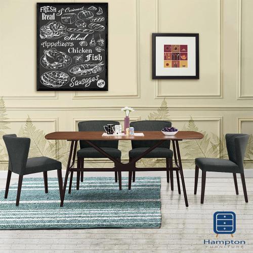 漢妮Hampton華倫6尺餐桌椅組-1桌4椅
