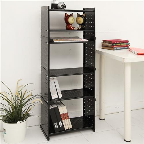 【HR安室家】貴族風可延伸式組合書櫃/書架4入-OA125