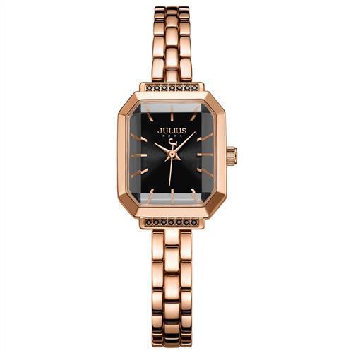 【JULIUS】巴黎戀人復古方形鍊帶腕錶(五色/20X17mm)