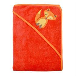瑞典ImseVimse-舒柔寶寶帽兜浴巾(狐狸紅)