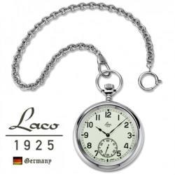 【Laco朗坤】861205 海軍系列 百年經典臻藏版 全盤夜光大錶盤 懷錶 銀色限量版