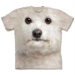 摩達客 美國進口The Mountain 捲毛比熊犬臉純棉環保短袖T恤