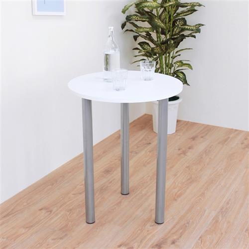頂堅 寬60x高75/公分(PVC防潮材質)圓形餐桌/洽談桌/書桌(二色可選)